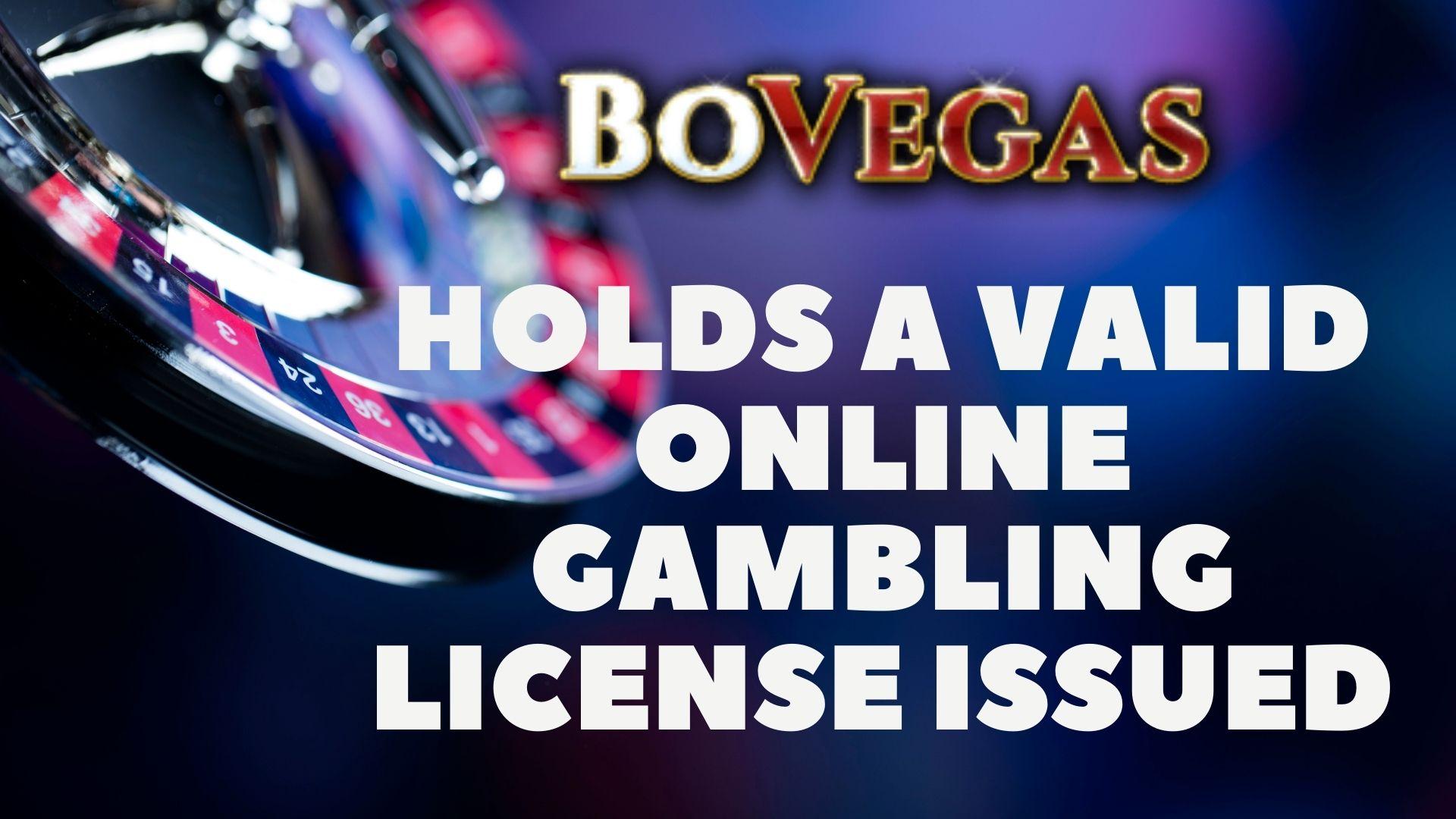 BoVegas Casino License
