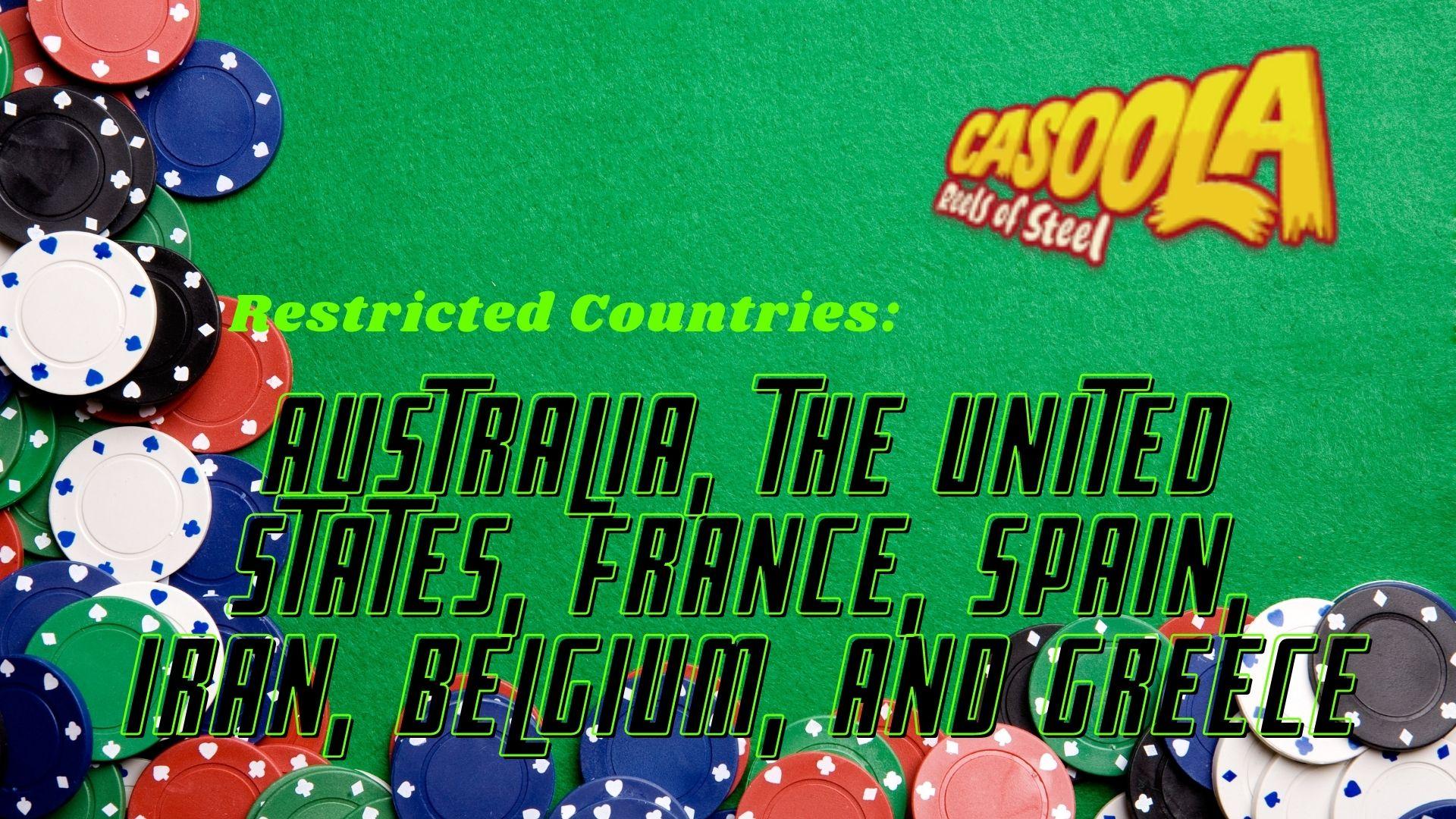 Casoola Casino Restricted Countries
