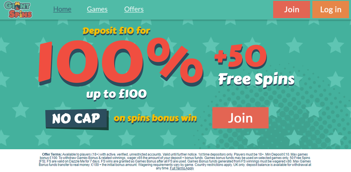 Giant Spins Casino Site